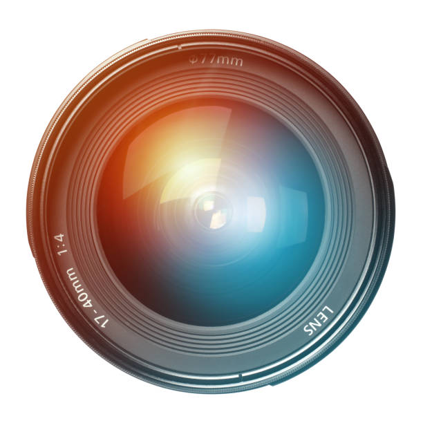 Front View of Wide Angle Camera Lens stock photo