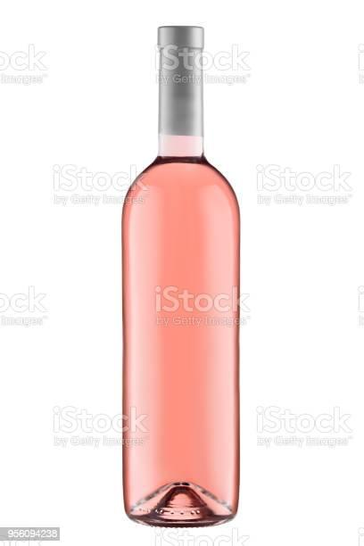 Front view rose wine blank bottle isolated on white background picture id956094238?b=1&k=6&m=956094238&s=612x612&h=rx8dvkzjbtawbctrl6connen2had8va7l8ymh4svit0=
