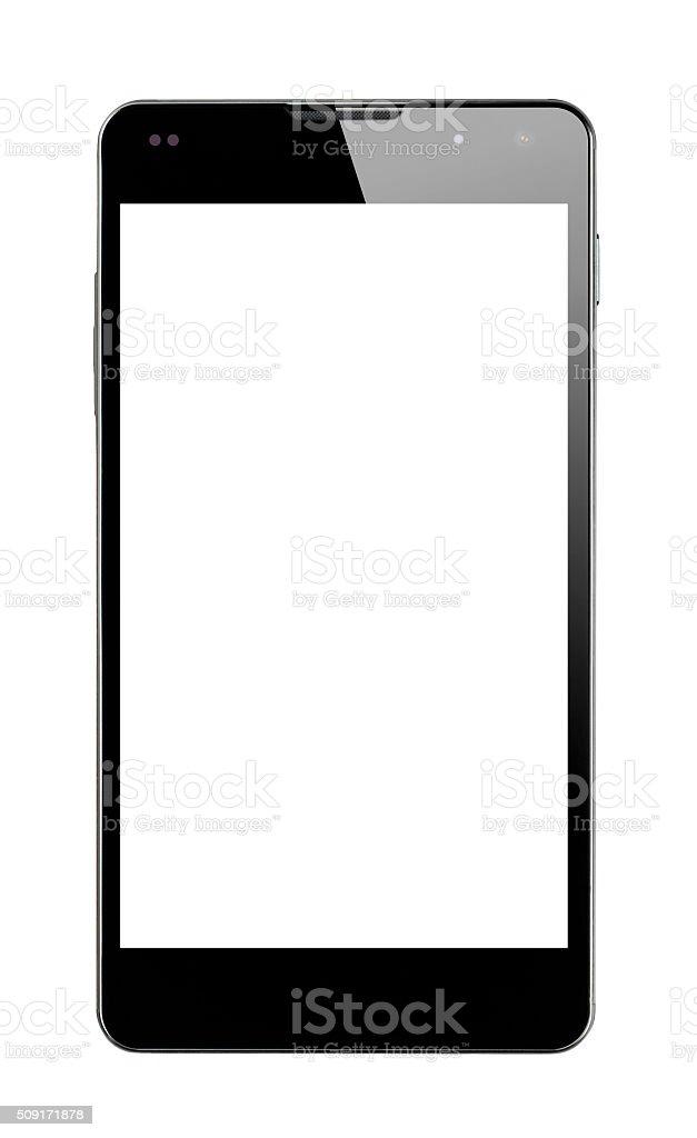 Teléfono inteligente aislado vista frontal - foto de stock