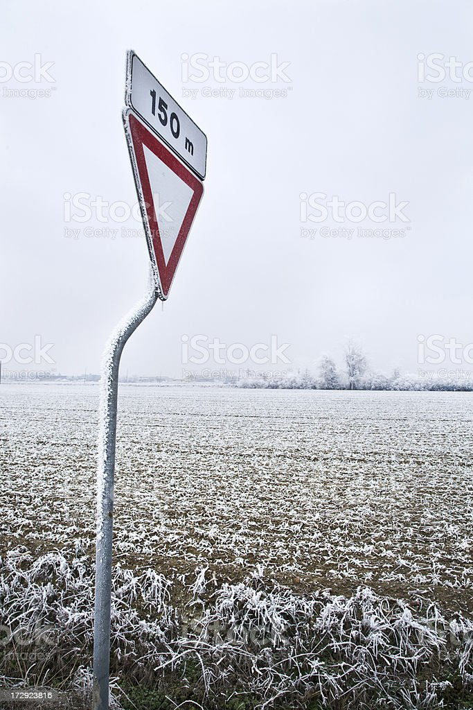 Front way sign royalty-free stock photo
