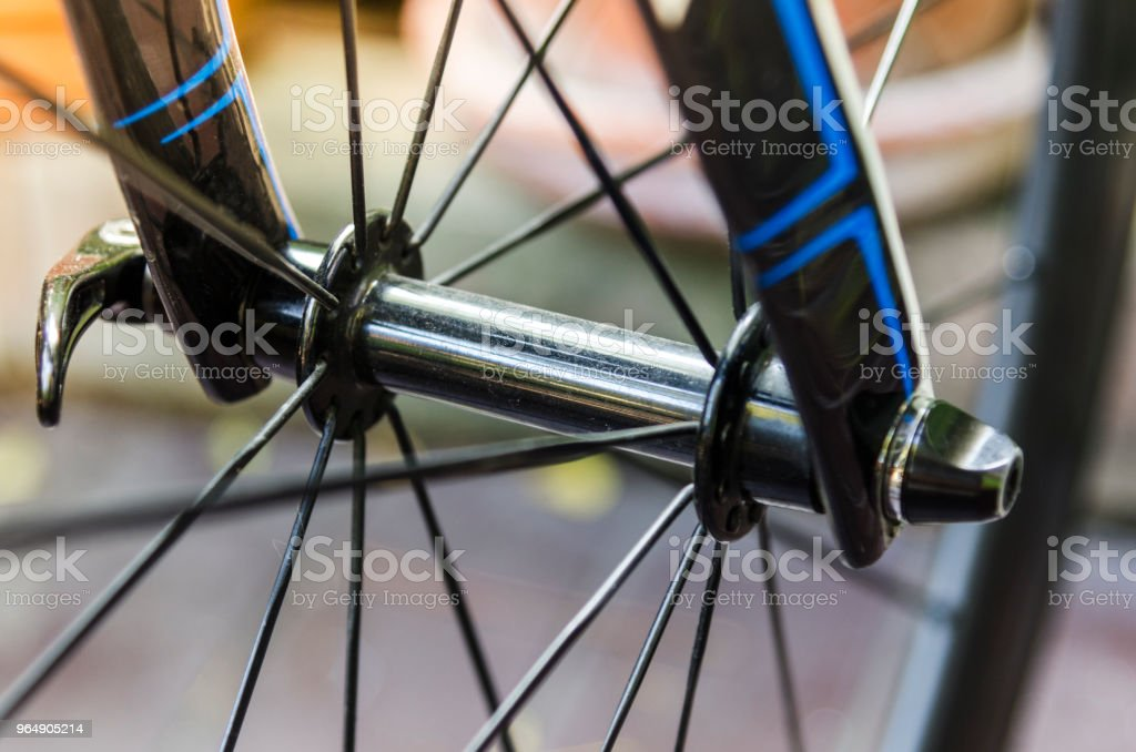 Front wheel and front wheel hub royalty-free stock photo