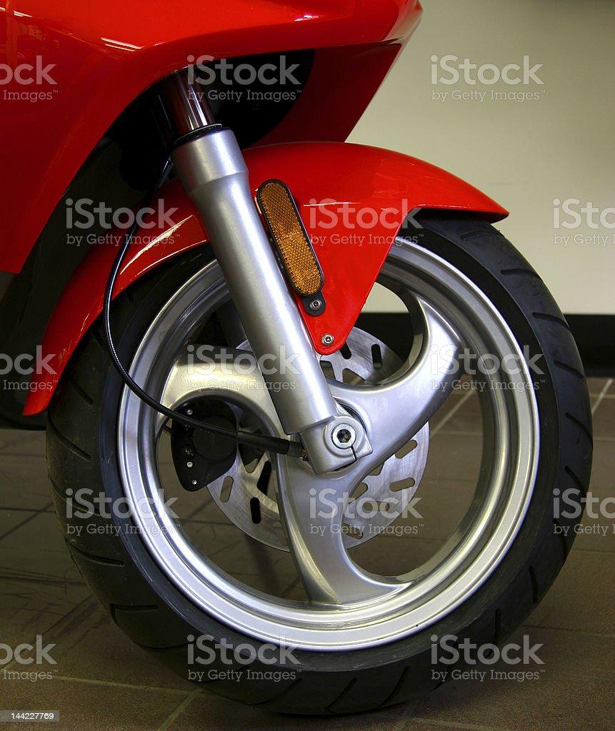 Front wheel royalty-free stock photo