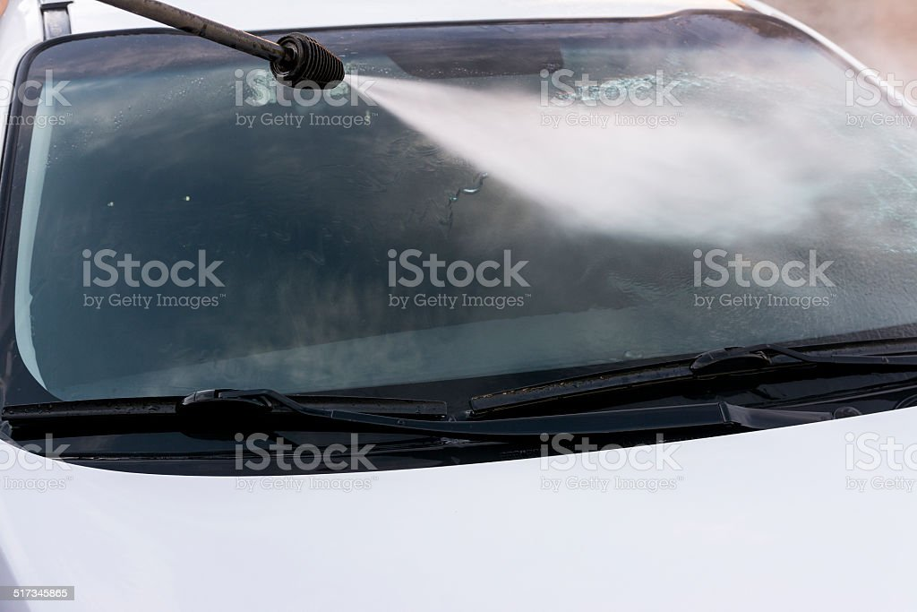 Frente de janela de lavagem. - foto de acervo