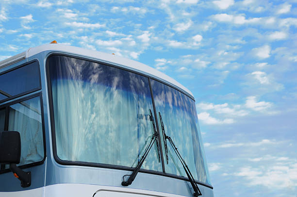 RV front with sky stock photo