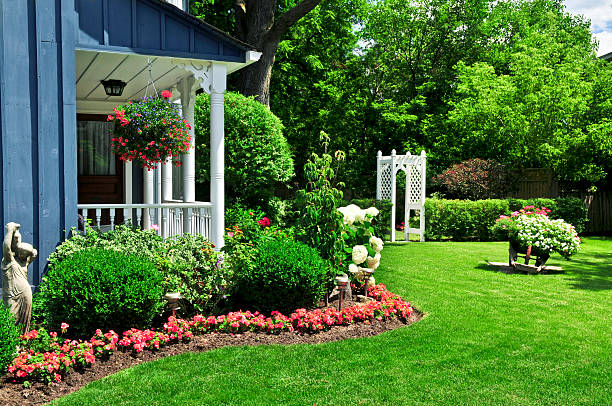 Front yard of a house  landscaped stock pictures, royalty-free photos & images