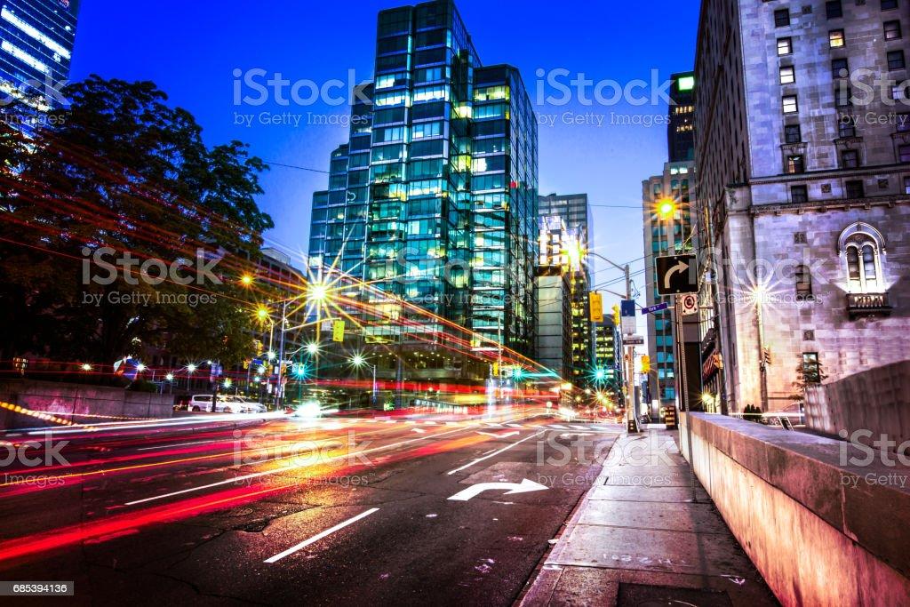 Front & York Street in Toronto stock photo