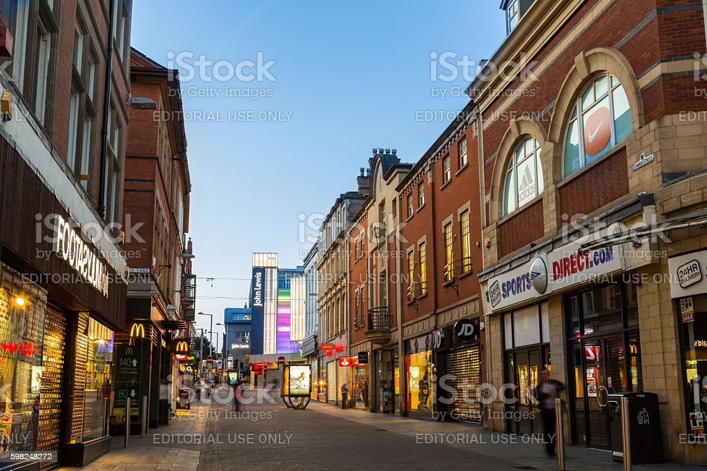 Frontage of Footasylum, Sports Direct, Nottingham, Clumber Street stock photo