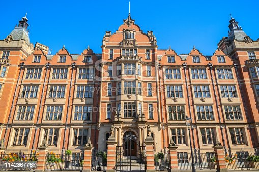 London, UK - March 27, 2019 - Formerly Her Majesty's Land Registry Building, now housing London School of Economics' Department of Economics