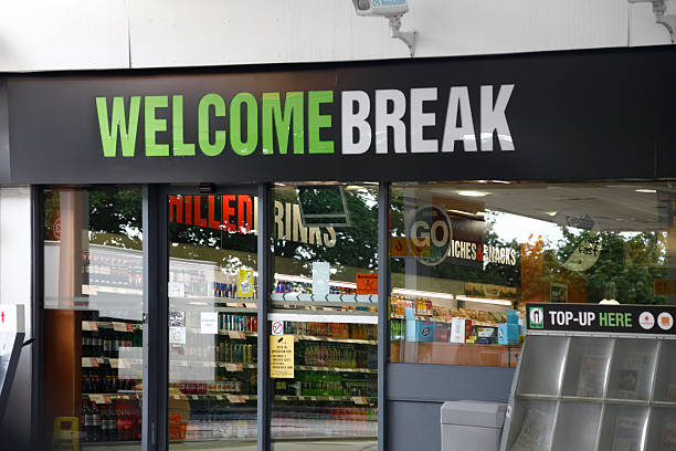 Frontage: Welcome Break motorway service station at Charnock Richard.