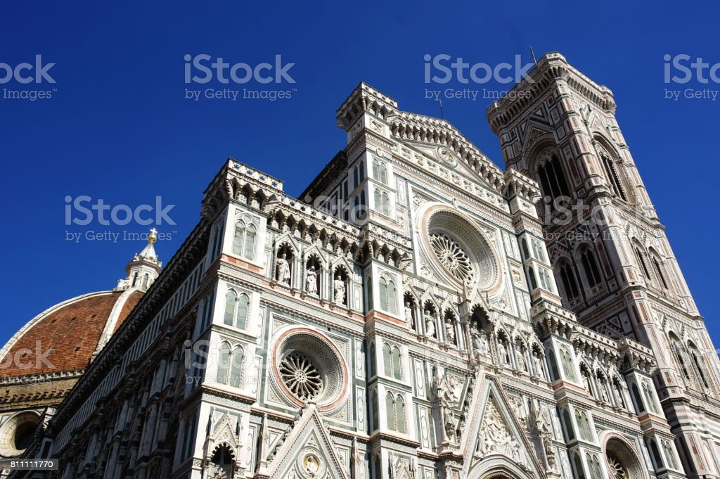 frontal facade of the Dome of Florence stock photo