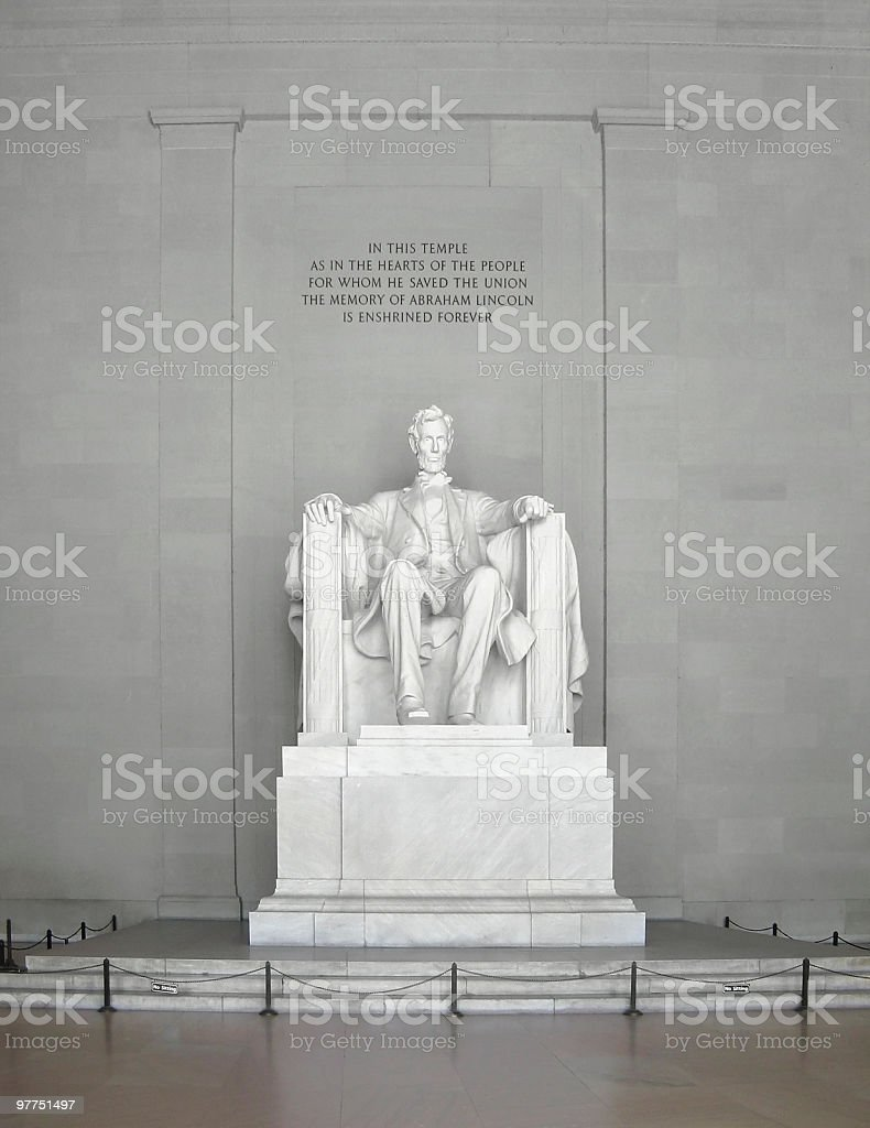 frontal Lincoln Statue royalty-free stock photo