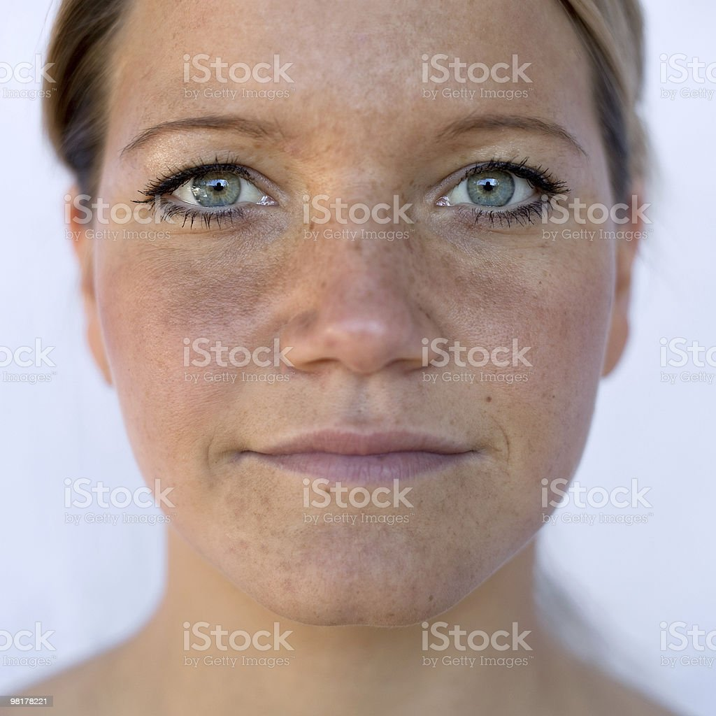 Frontal portrait of a woman royalty-free stock photo