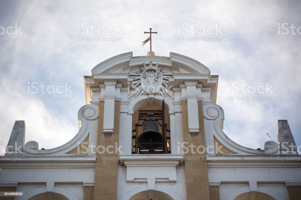 Frontal View Of The Lateral Facade Of the Madonna del Carmelo'S Church stock photo