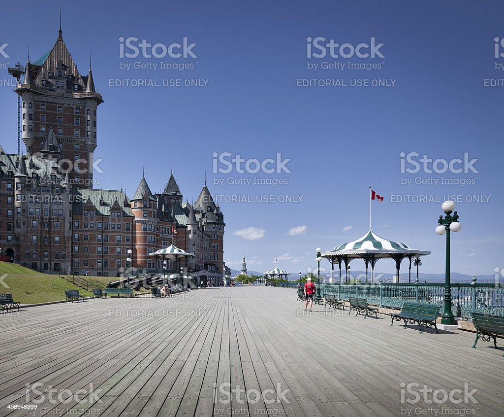 Frontenac Castle in Quebec city summer royalty-free stock photo