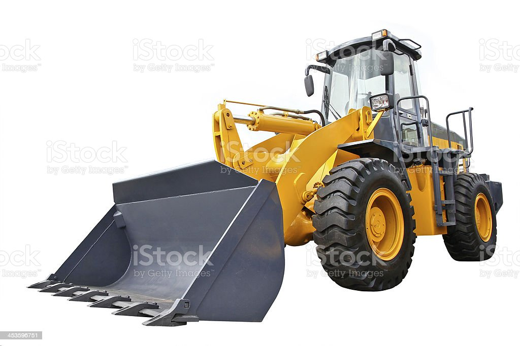 Front-end loader stock photo