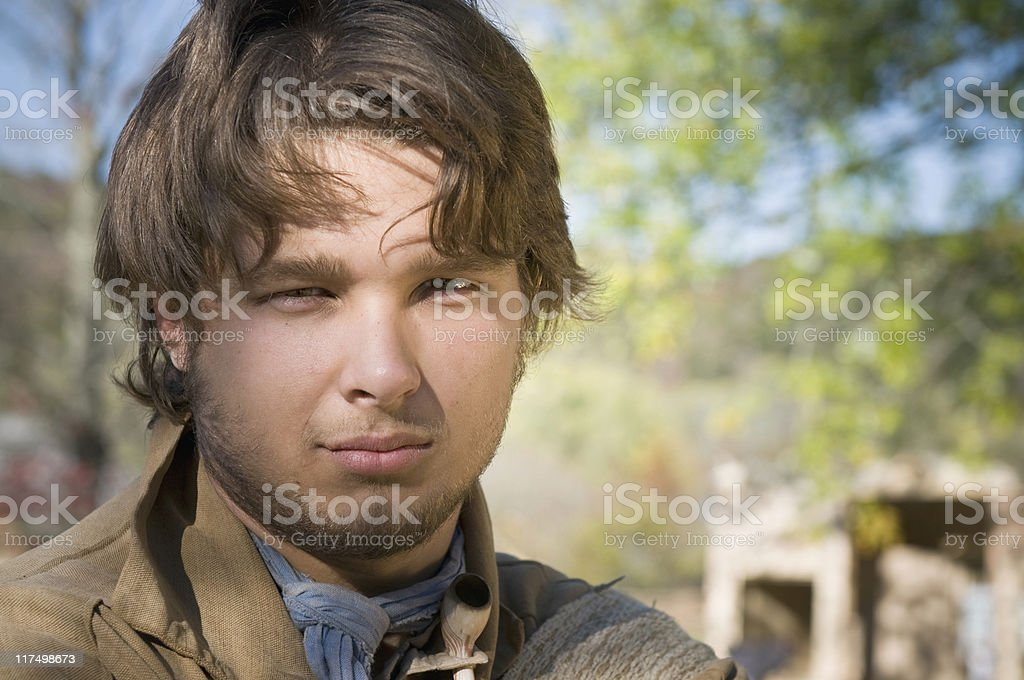 Frontier Boy royalty-free stock photo