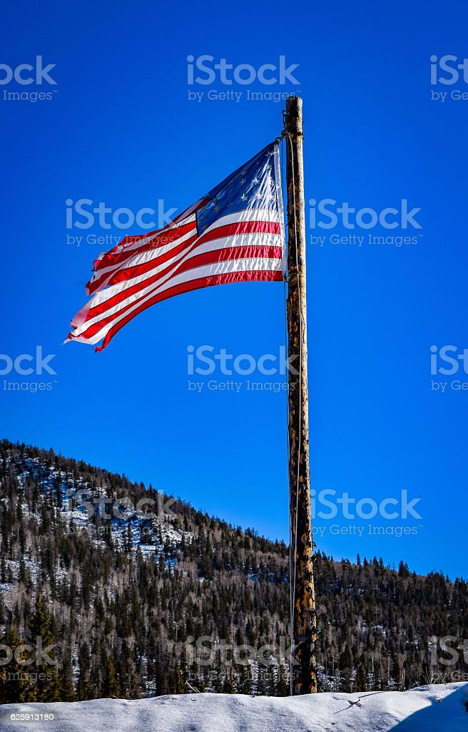 Frontier flag stock photo