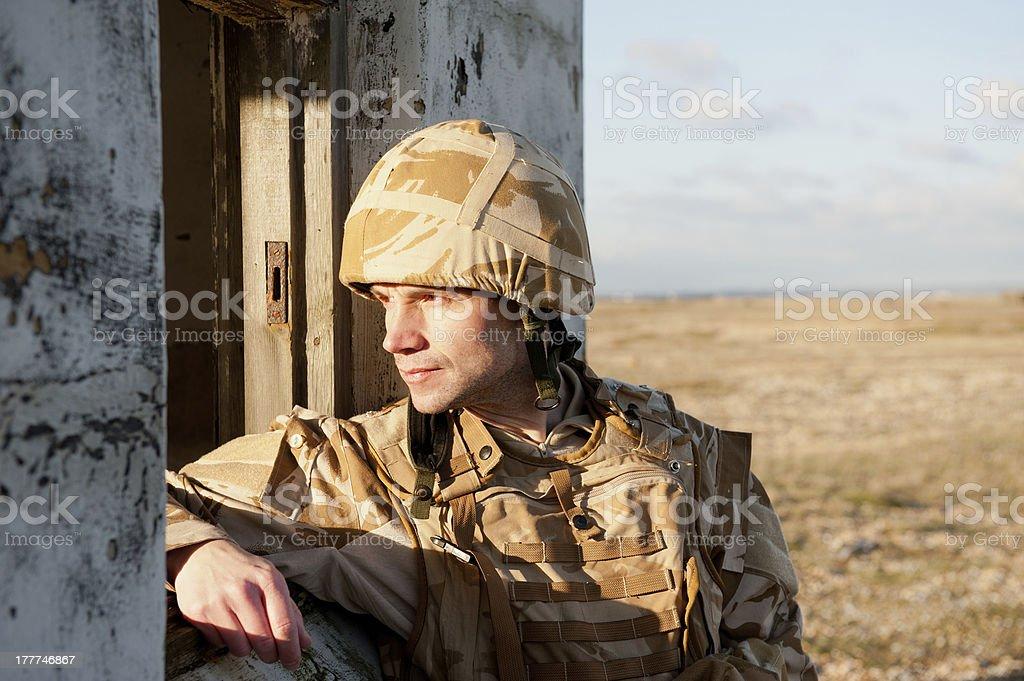 Frontline Soldier stock photo