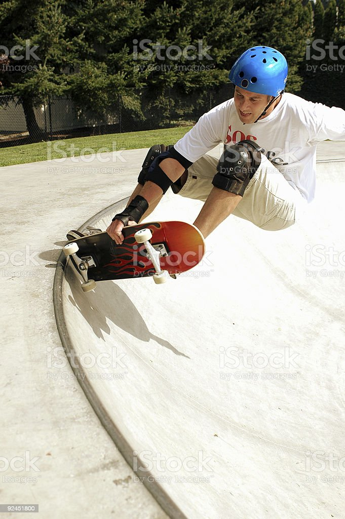 Frontside Grab - Dave stock photo