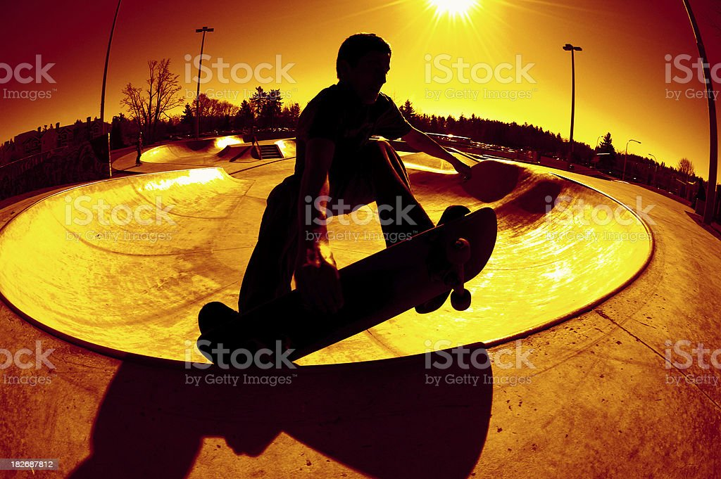 Frontside Silhouette Grab royalty-free stock photo