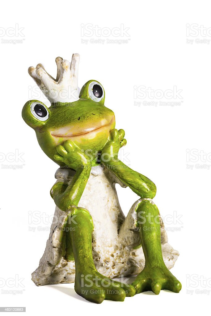 Froschkönig - Frog King stock photo