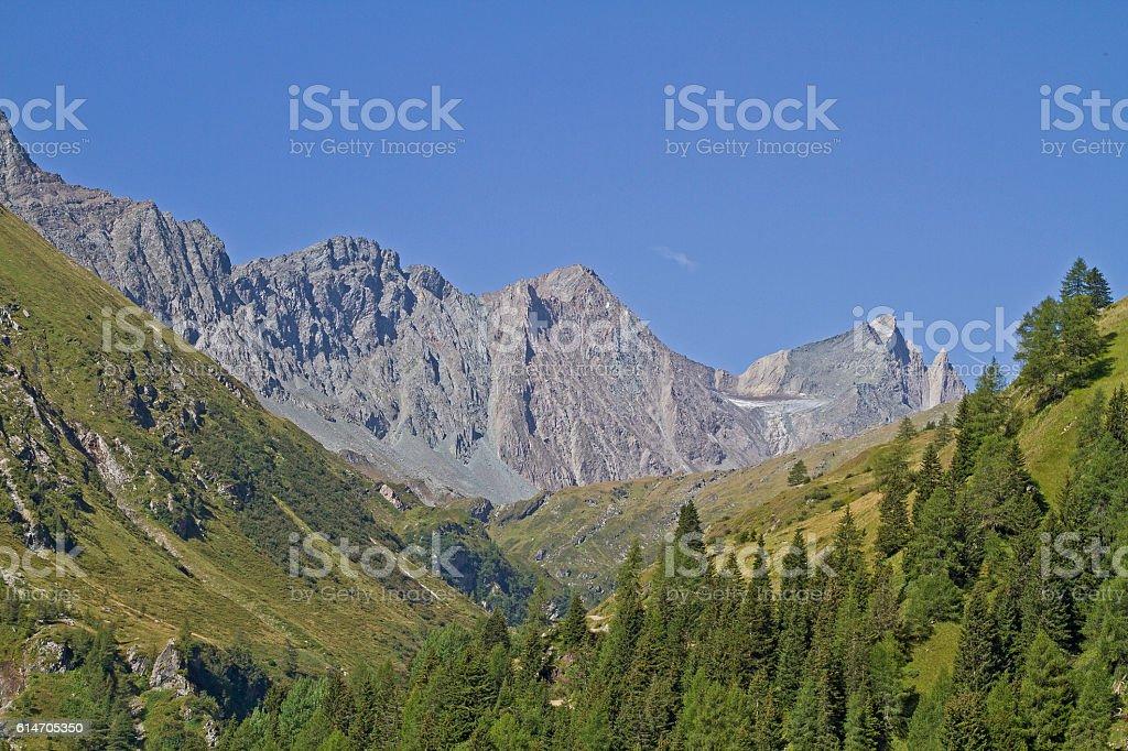 Frosnitz valley in East Tyrol stock photo