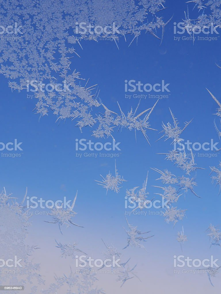 frost ice crystal on window royalty-free stock photo
