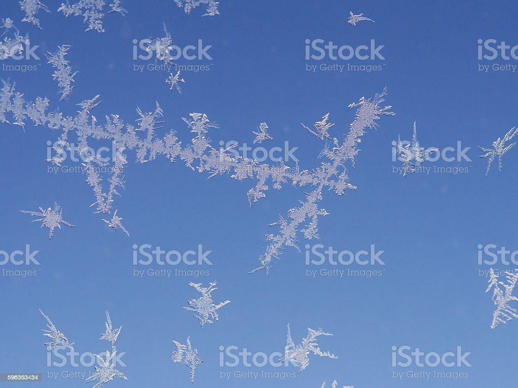frost ice crystal  pattern on window royalty-free stock photo