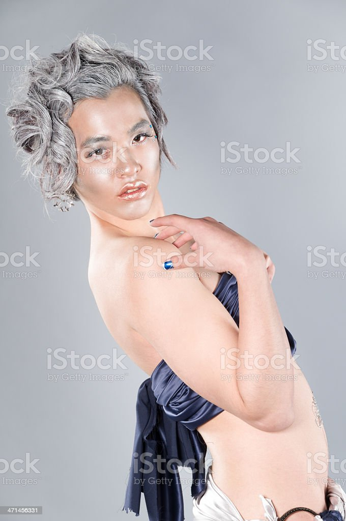 Frost Nymph leaning back with hand on shoulder royalty-free stock photo