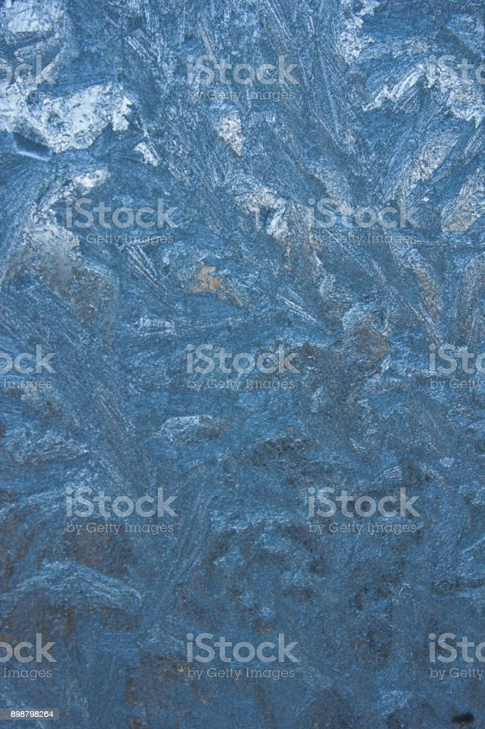 frost on the glass stock photo