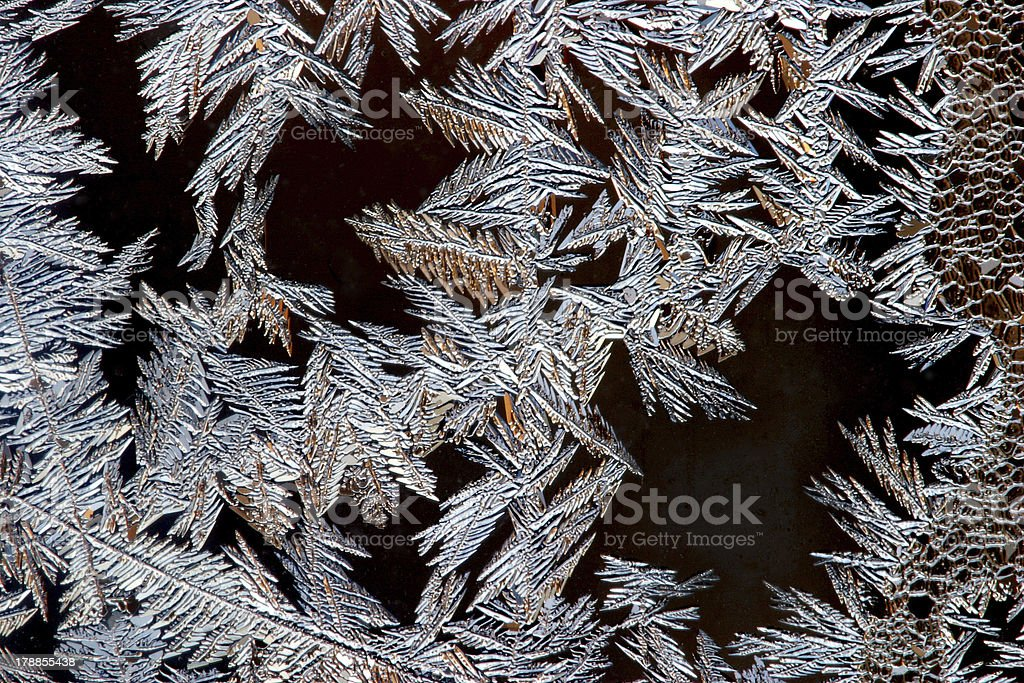 frost on the window royalty-free stock photo