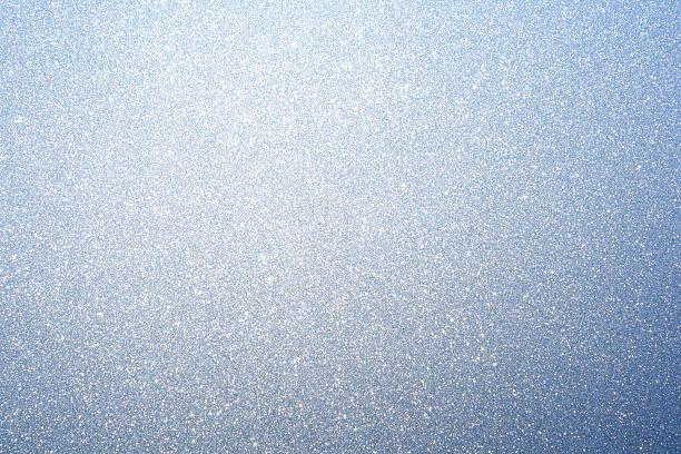 Frost on winter window stock photo