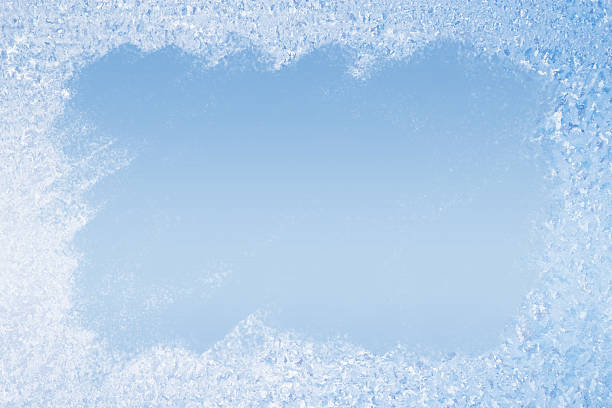 frost pattern background - ice crystal stock pictures, royalty-free photos & images