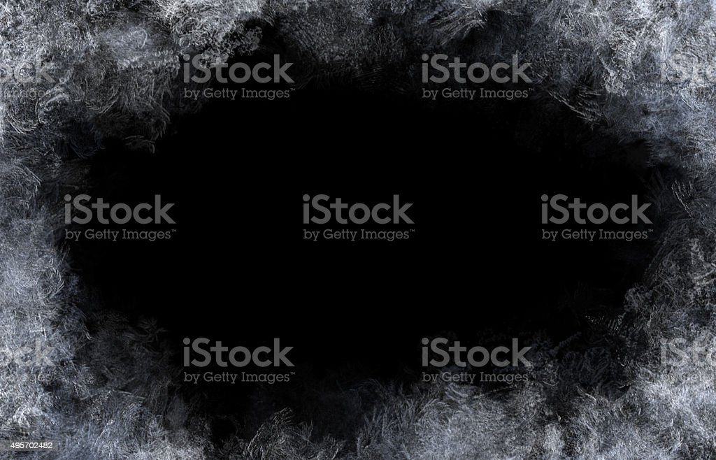 Frost Pattern Background stock photo