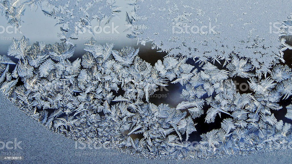 Frost winter frost on the  window. royalty-free stock photo