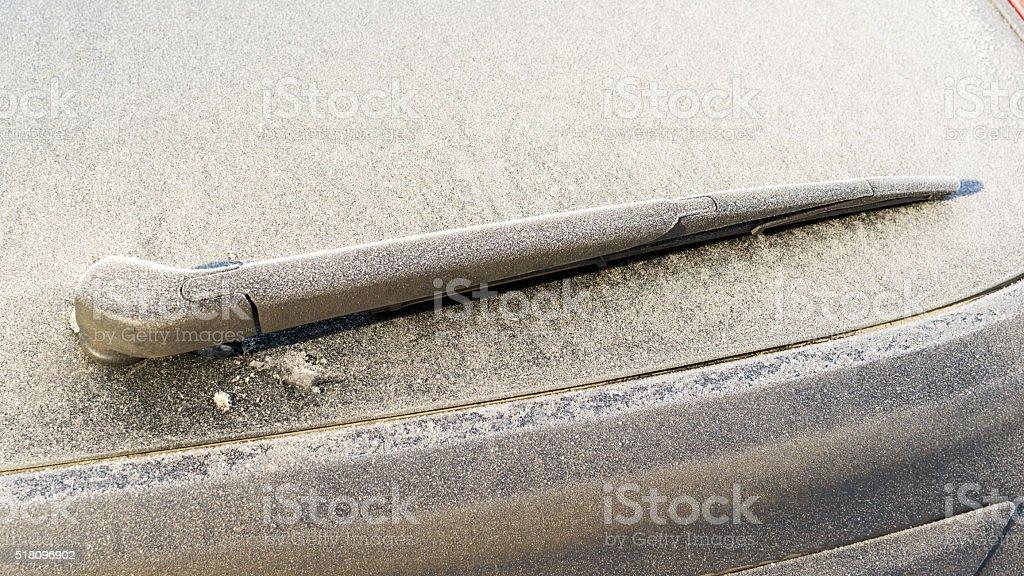Mattiertes und gefrorene Auto Windschutzscheibe Schmeiß – Foto