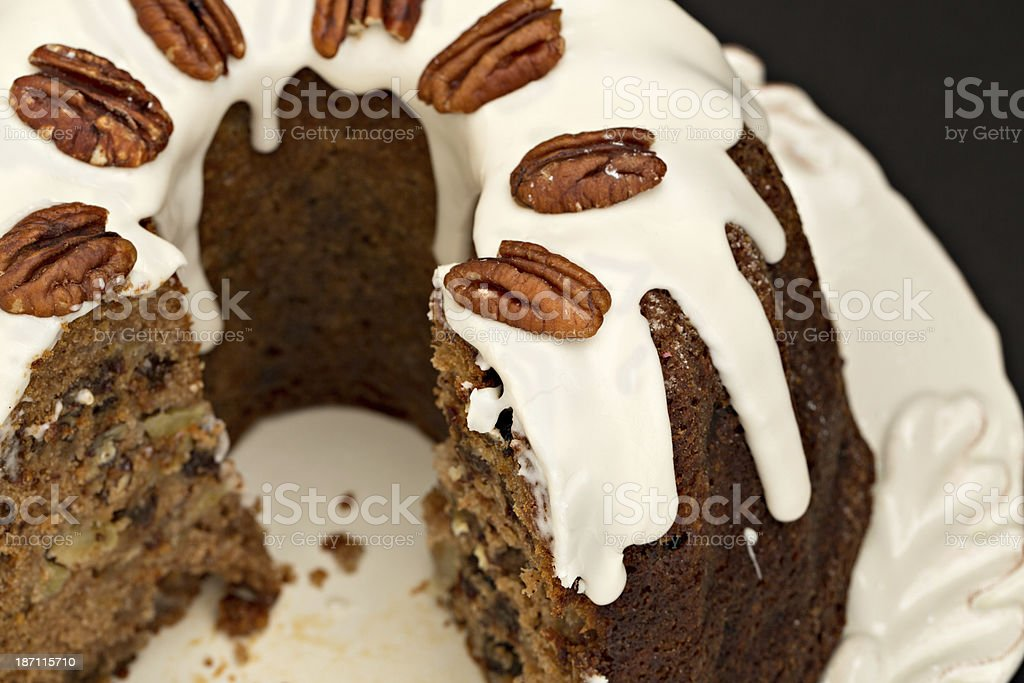 Frosted Apple Cake royalty-free stock photo