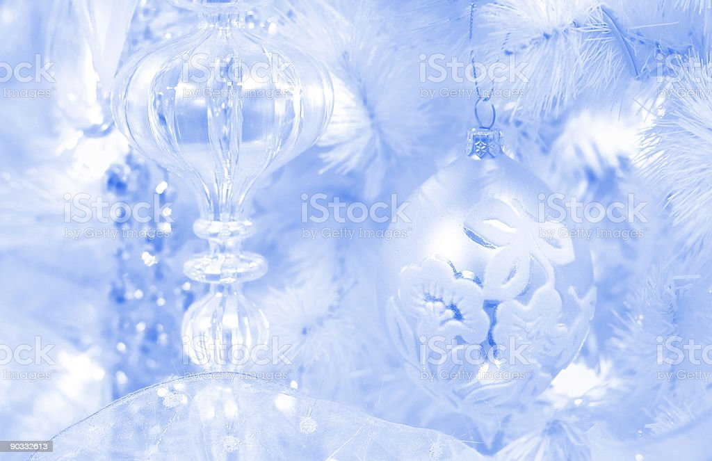 frosted christmas background royalty-free stock photo