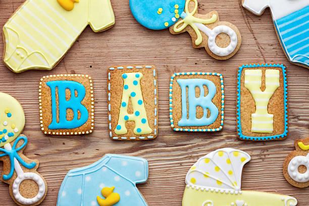 baby showers las cookies - baby shower fotografías e imágenes de stock