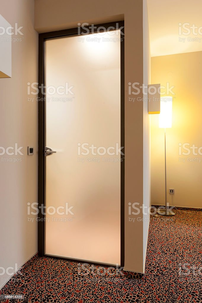 ... Frosted glass door to hotel bathroom stock photo ... & Frosted Glass Door Pictures Images and Stock Photos - iStock pezcame.com