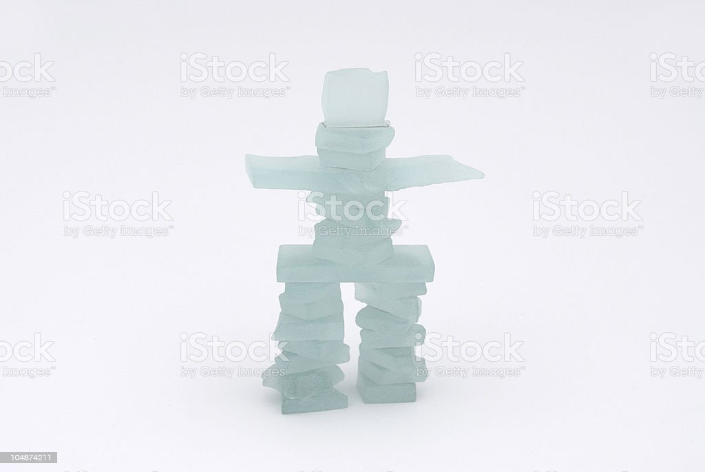 Frosted Glass Inukshuk royalty-free stock photo