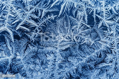 Patterns made by the frost on the window