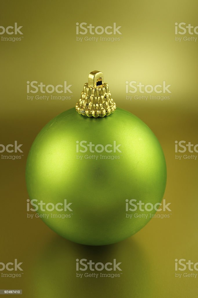 Frosted Green Christmas Ornament royalty-free stock photo