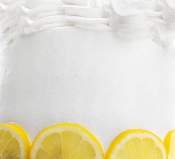 Frosted Lemon Cake Background stock photo