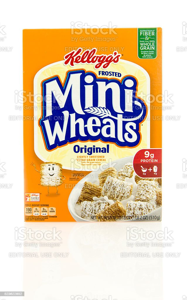 Frosted Mini Wheats Cereal stock photo