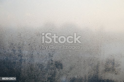 istock Frosted on glasses or mirror fogged up 663943624