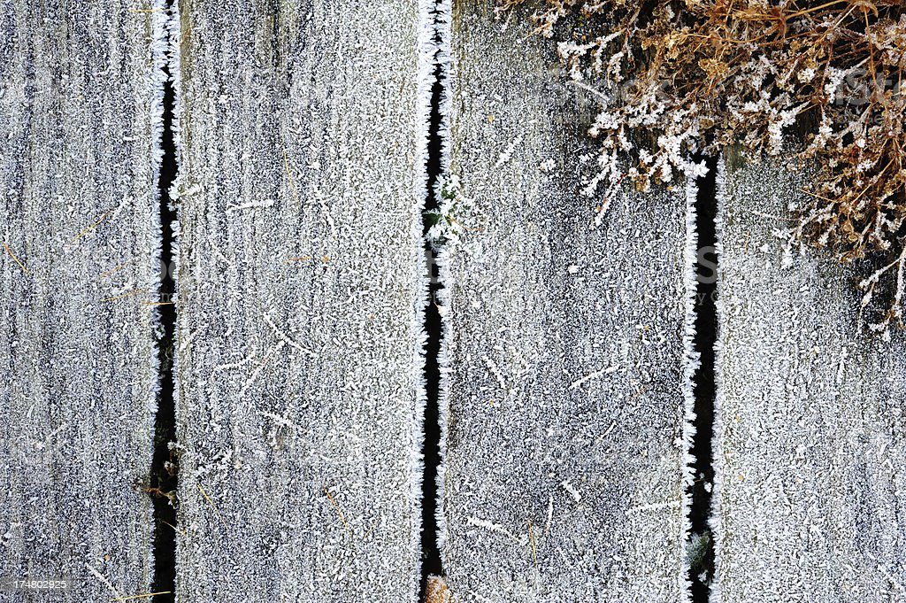 Frosted planks royalty-free stock photo