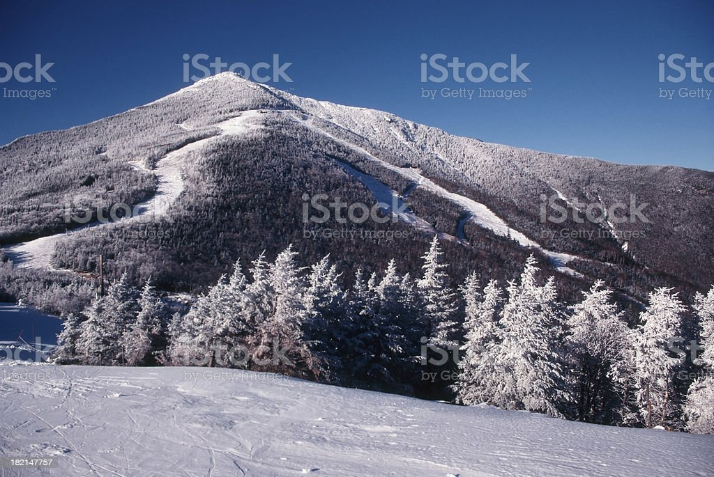 Frosted Ski Slope stock photo