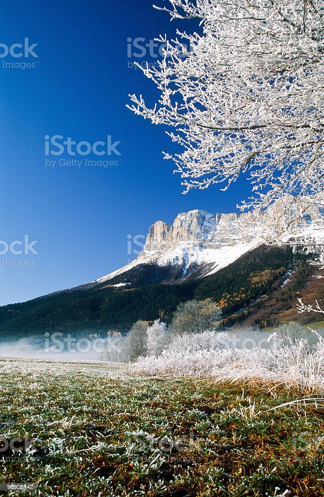 Vercors givré royalty-free stock photo