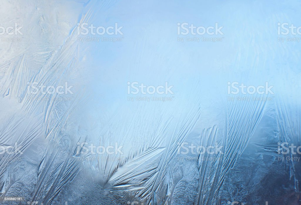 Frosted window stock photo